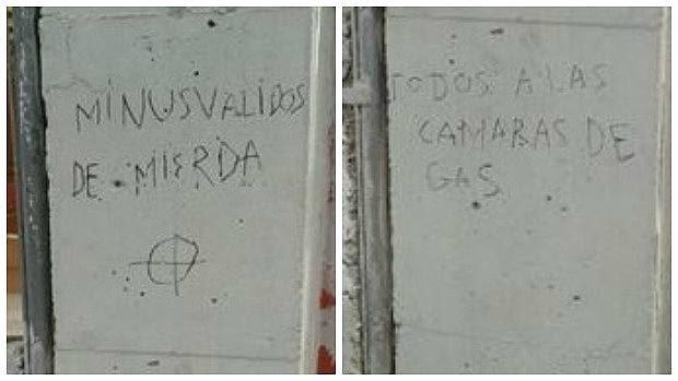 Hallan pintadas insultantes en un colegio de educación especial de Fuenlabrada