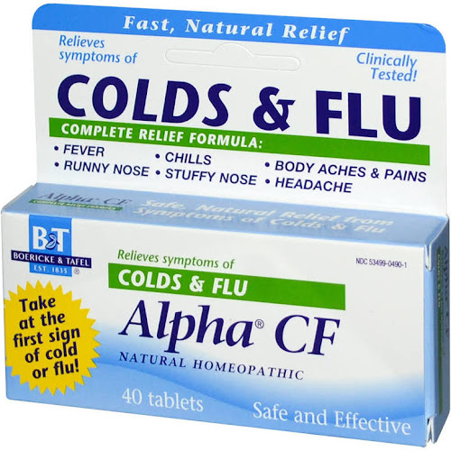 Boericke and Tafel Alpha CF Natural Homeopathic Tablets - 40 count box