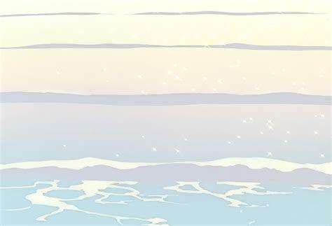 gif aesthetic anime beach png gif base