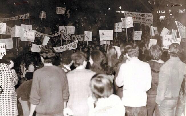 A luta estudantil contra a ditadura militar  se intensificou em 1966. Foto: Arquivo Brasil Nunca Mais