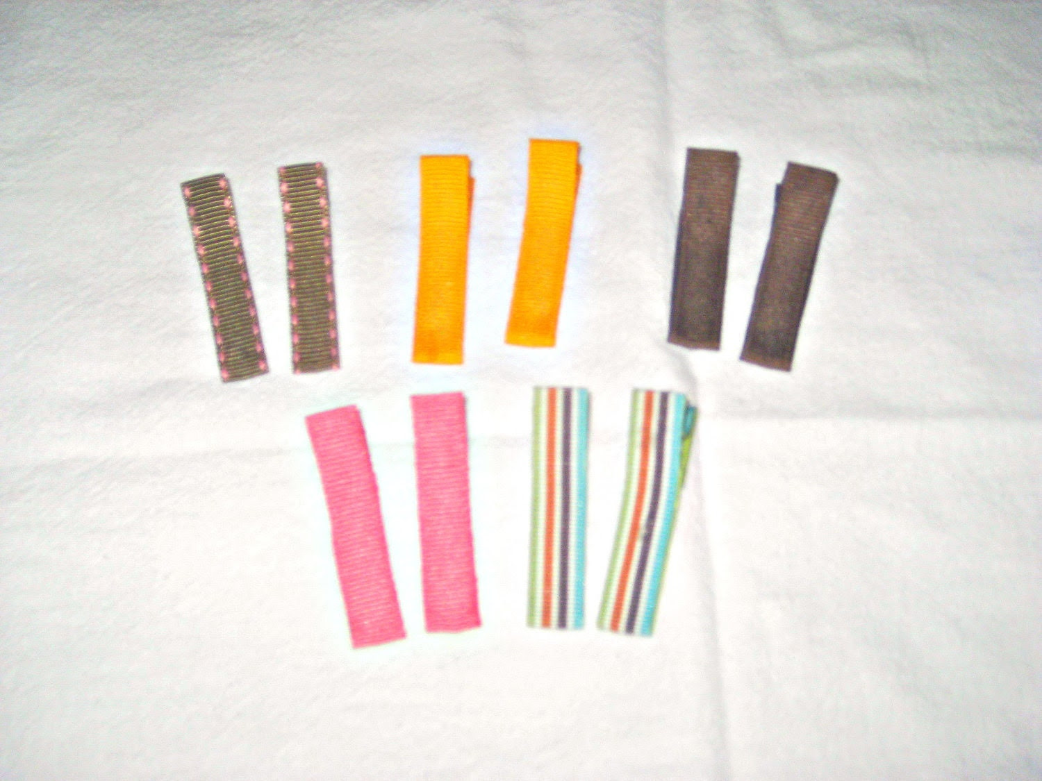 ribbon-covered hair clips