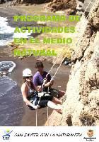 Cartel del programa de actividades en el Medio Natural de San Javier