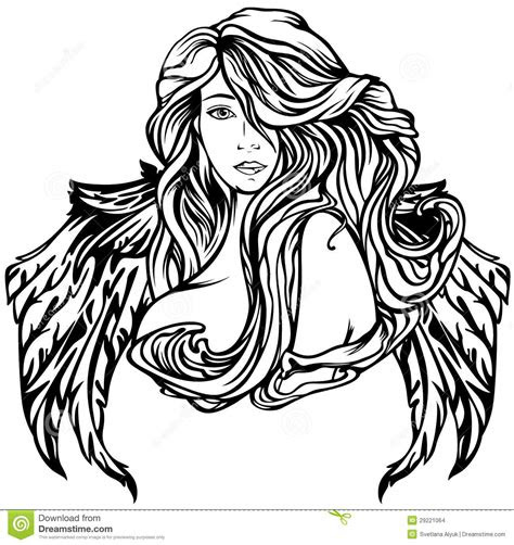 angel stock vector image  hair female element