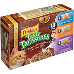 Purina Friskies Tasty Treasures Wet Cat Food Variety Pack - 12 pack, 5.5 oz cans