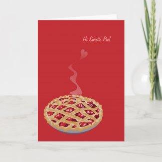 Sweetie Pie Valentine's Card card