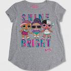 petiteGirls' L.O.L. Surprise! Shine Bright Short Sleeve T-Shirt - Heather Gray