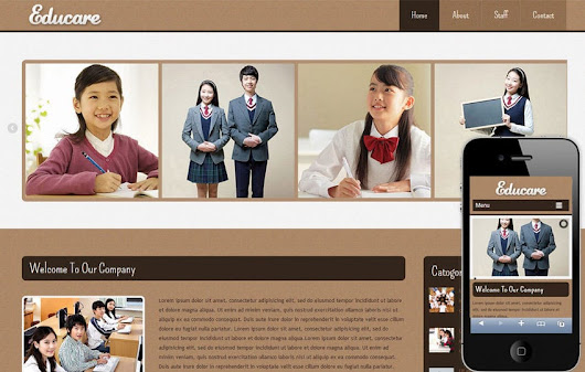 Educare Education Mobile Website Template by w3layouts