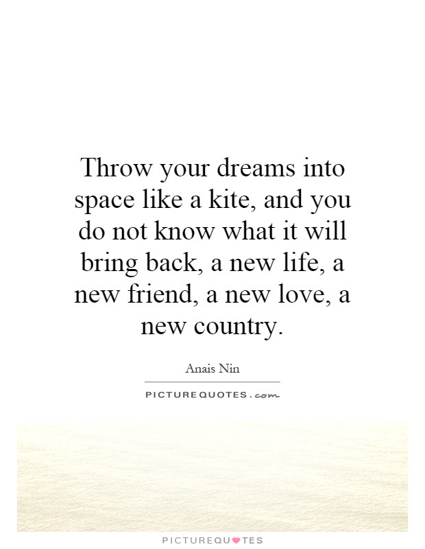 Throw Your Dreams Into Space Like A Kite And You Do Not Know