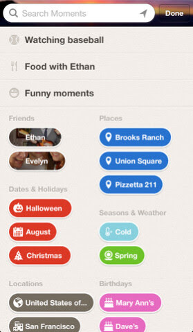 Screenshots from social networking site Path