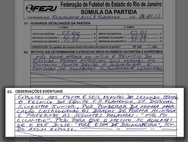documento expulsão Dorival (Foto: Reprodução)