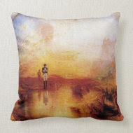 Joseph Mallord Turner - War and Exile throwpillow