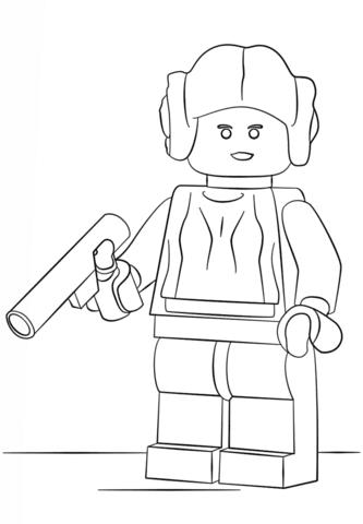 Dibujo De Princesa Leia De Lego Para Colorear Dibujos Para