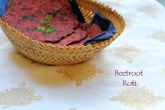 Beetroot Flat Bread, Beetroot roti, the Indian way - Easy Bites Online