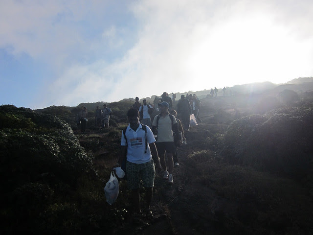 Kumara_Parvatha_Trek_Pushpagiri_Top_Coming_Down