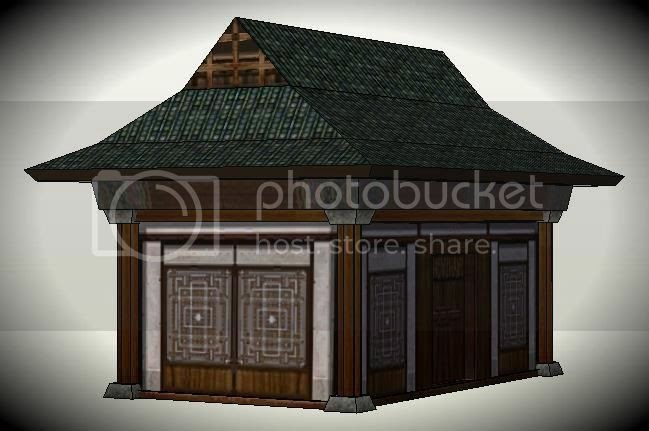 Papermau Traditional Japanese House Paper Model By Toast Via Sketchup Warehouse