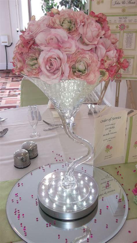 Gel beads in Martini glasses centerpiece idea 2   Wedding