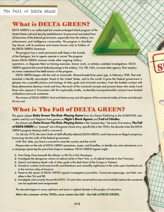 Fight Cthulhu in the 1960s: An Exclusive Preview of Fall of Delta Green