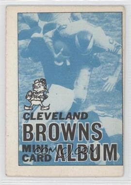 1969 Topps Mini-Albums Inserts #4 - Cleveland Browns [GoodtoVG‑EX] - Courtesy of COMC.com