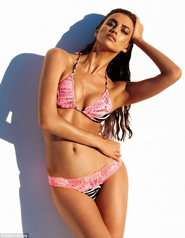 Perfect pose: The catwalk star has been busy of late shooting a number of different bikini and clothing campaigns