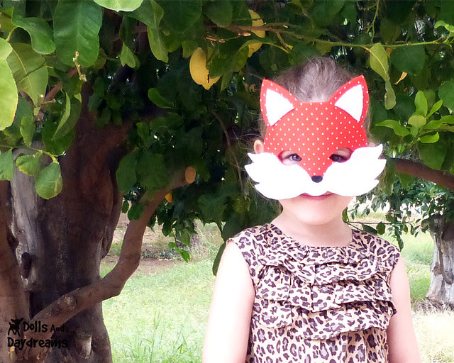 fox mask pattern and tail tutorial fancy dress up imaganitive play  copy