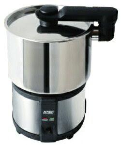 全世界対応・電圧自動切替式の多用途調理器。満水容量1.3Lトラベルクッカー NTS ITC-AV500