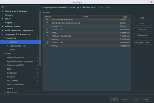 Configuring IntelliJ IDEA for Electron