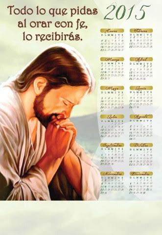 Jesus Orando calendario 2015 - Click en la imagen para cerrar