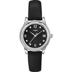 Timex Women's Classic Crystal Black Dial Watch