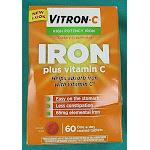 Vitron C Iron, High Potency, Plus Vitamin C, Coated Tablets - 60 tablets