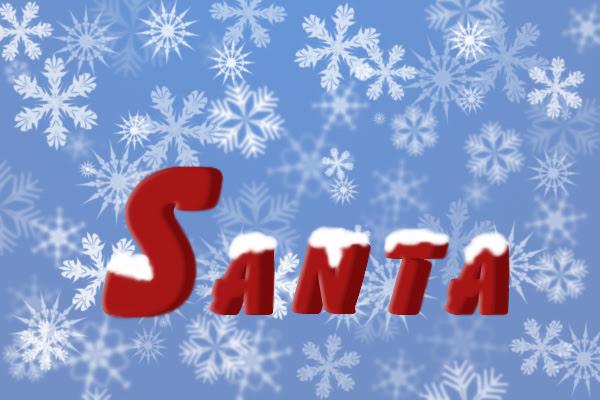 Santa Text image 17