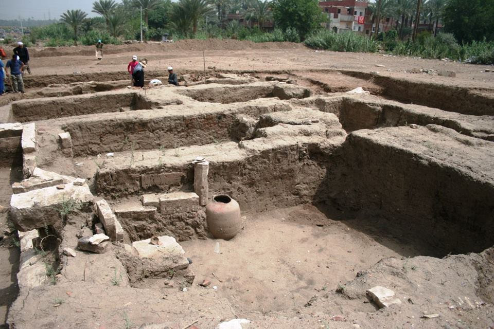 The large building may originally have been part of a            residential complex (Photo: Ministry of Antiquities)