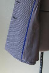 blue trim check jacket