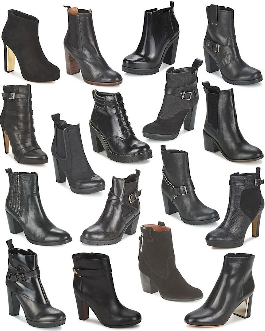 craving: heeled black boots