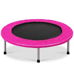 """38"""" Rebounder Trampoline Adults and Kids Exercise Workout with Padding and Springs-Pink 