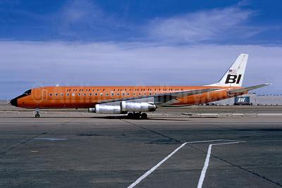 Braniff International Airways (1st) McDonnell Douglas DC-8-62 N1809E (msn 46107) DAL (Bruce Drum). Image: 102308.