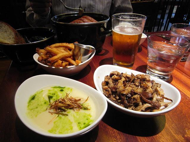 Potato Soup and Mushrooms