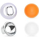 universal lambancy dome flash diffuser with orange white silver domes for canon 420ex 430ex 550ex 580ex 600ex for nikon sb600 sb700 sb800 sb900 sb910