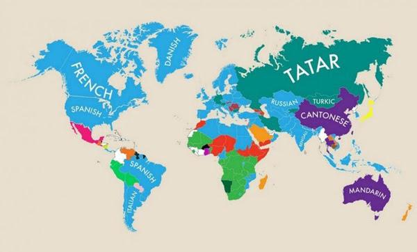 Perierga.gr-Ποιές ξένες γλώσσες μιλούν σε άλλες χώρες του κόσμου;