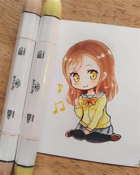 small chibi girl anime drawing fan art  atmeiririh