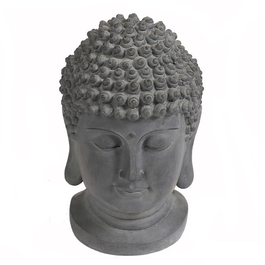 Luxen Home 19 9 In H X 14 2 In W Gray Buddha Garden Statue In The Garden Statues Department At Lowes Com