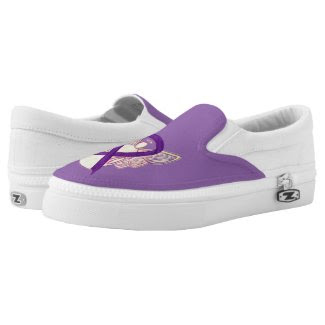 Purple Awareness Ribbon Angel Custom Shoes Printed Shoes