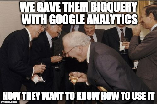 Querying Google Analytics data as flat tables from BigQuery
