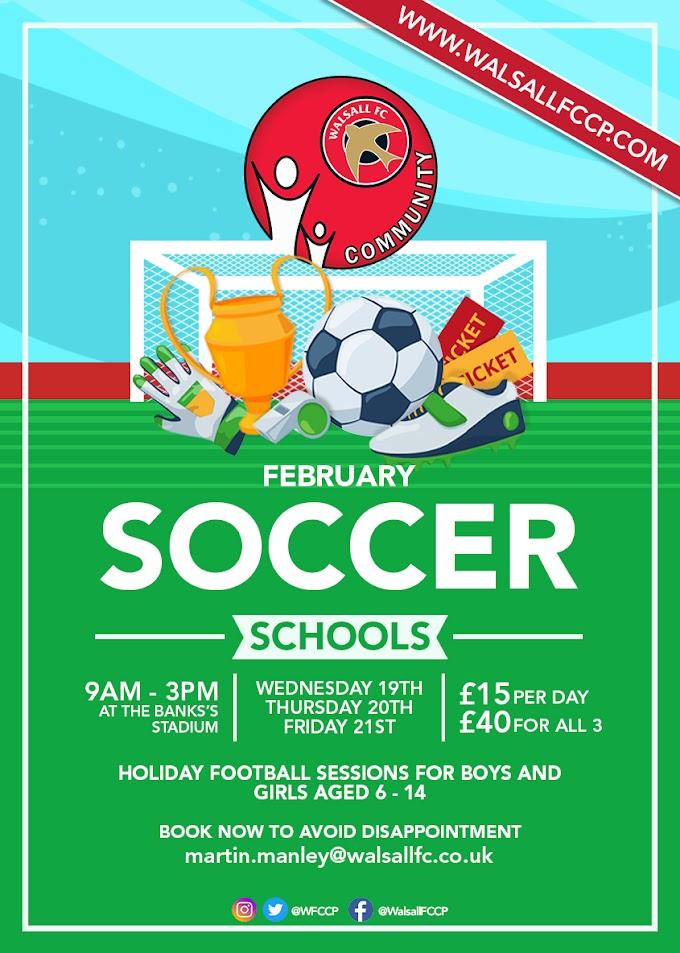WFCCP's Soccer Schools Return Next Week!