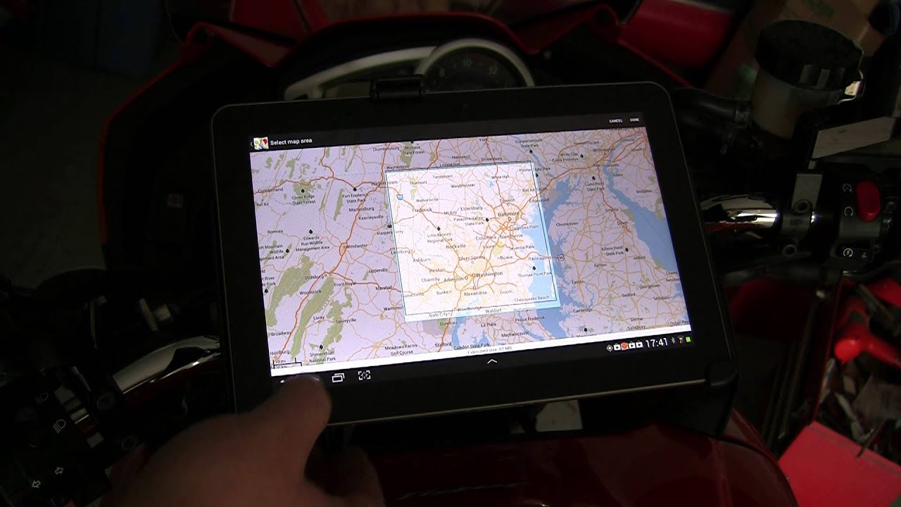 Using A 10 Tablet On A Motorcycle Youtube