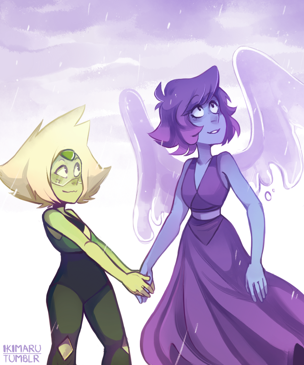 I thought it would be nice if Peridot showed Lapis the rain c: