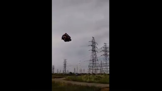 Bounce house flies into the wind, hits power lines in New York