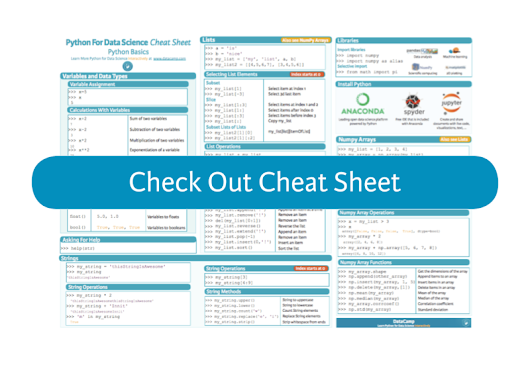 30 Essential Data Science, Machine Learning & Deep Learning Cheat Sheets