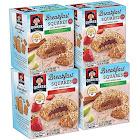 Quaker Breakfast Squares Variety Pack, Apple Cinnamon & Strawberry, 5 Bars Per Box (Pack of 4)