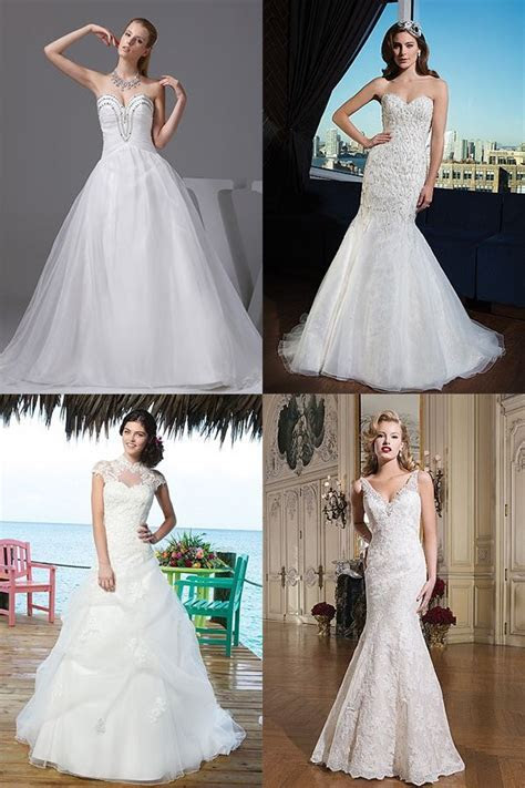 Wedding Dresses for Broad Shoulders Brides (Inverted