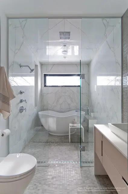 48 Luxurious Marble Bathroom Designs - DigsDigs